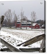 Knox Farm In Winter 0980 Acrylic Print