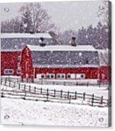 Knox Farm Snowfall Acrylic Print by Don Nieman