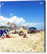 Blue Sky Day In Ocean City Acrylic Print