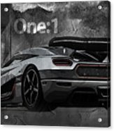 Koenigsegg One-1 Acrylic Print