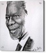 Kofi Anan Acrylic Print