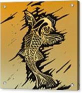 Koi 2 Acrylic Print by Jeff DOttavio