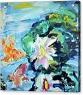Koi Fish And Water Lilies Acrylic Print