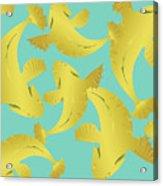 Koi Fish Sage - Lemon Acrylic Print
