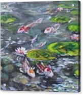 Koi Haven Acrylic Print