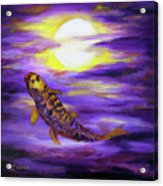 Koi In Purple Twilight Acrylic Print