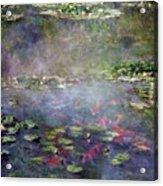 Koi N Pond Acrylic Print