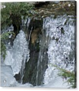 Koi Pond Waterfall Acrylic Print