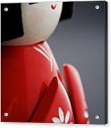 Kokeshi Doll Acrylic Print