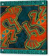 Kokopelli Dancers Acrylic Print