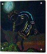 Kokopelli In Moonlight Acrylic Print