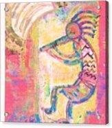 Kokopelli Sleepy Dance Acrylic Print