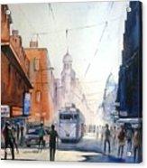 Kolkata City With Tram Acrylic Print