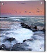 Koloa Sunset Acrylic Print by Mike  Dawson