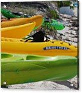 Kolorful Kayaks Acrylic Print