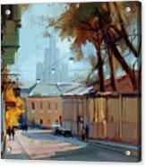 Kolpachny Lane. Autumn Motive. Acrylic Print