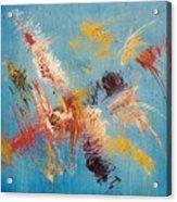 Komposition Auf Blau Acrylic Print