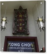 Kong Chow Benevolent Association Acrylic Print