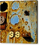 Kontroller Rust And Metal Series Acrylic Print by Mark Weaver
