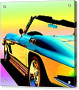 Kool Corvette Acrylic Print by Lynn Andrews
