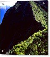 Koolau Summit Trail Ridge Acrylic Print