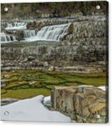 Kootenai Falls In Winter Acrylic Print