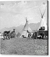 Kootenai First Nations Camp, C.1920-30s Acrylic Print
