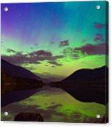 Kootenay Lake Northern Lights Acrylic Print