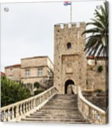 Korcula Old Town Stairs Acrylic Print
