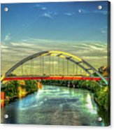Korean Veterans Memorial Bridge 2 Nashville Tennessee Sunset Art Acrylic Print