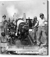 Korean War Artillerymen Acrylic Print