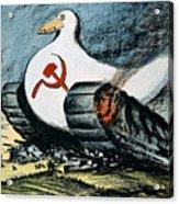 Korean War: Cartoon, 1950 Acrylic Print