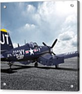 Korean War Hero F4-u Corsair Acrylic Print