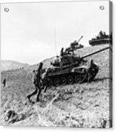 Korean War: Infantrymen Acrylic Print