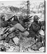 Korean War: Soldiers Acrylic Print