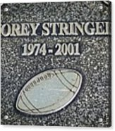 Korey Stringer Tribute Acrylic Print