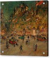 Korovin, Konstantin 1861-1939 Les Grands Boulevards, Paris Acrylic Print