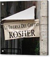Kosher Acrylic Print