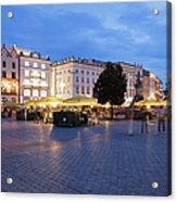 Krakow Main Square By Night Acrylic Print