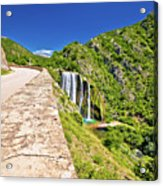 Krcic Waterfall In Knin Scenic View Acrylic Print