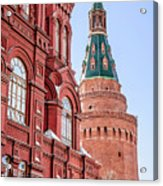 Kremlin Tower In Moscow Acrylic Print