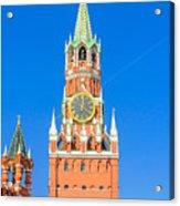 Kremlin's Clock Tower Acrylic Print