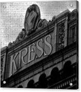 Kress 1929 Acrylic Print