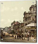 Krestchatik Street In Kiev - Ukraine - Ca 1900 Acrylic Print