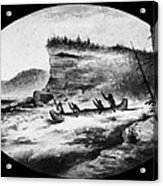Krieghoff: Canoe On Rapids Acrylic Print