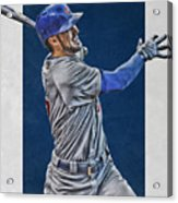 Kris Bryant Chicago Cubs Art 3 Acrylic Print