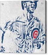 kris bryant CHICAGO CUBS PIXEL ART 2 Acrylic Print