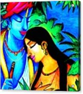Krishna And Radha Acrylic Print