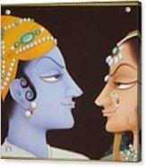 Krishna N Radha Acrylic Print