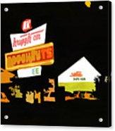 Krispy Kreme At Night Acrylic Print